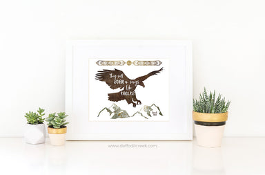Soar on Wings Like Eagles - Boho Boys Room Bible Verse Print