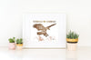 Soar on Wings Like Eagles - Boho Girls Room Bible Verse Print