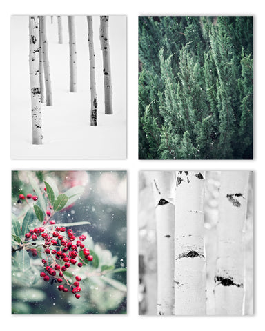 Winter Holiday Set of Four