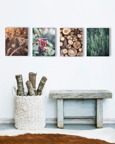Winter Wall Art Set of Four