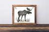 MOOSE Version - Fearfully and Wonderfully Made - Woodland Nursery Art