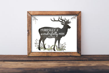 Fearfully and Wonderfully Made - Woodland Nursery Decor