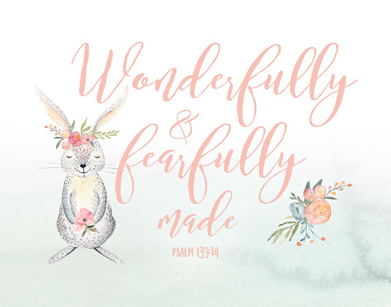 Wonderfully and Fearfully Made - Girls Woodland Print
