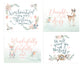 Girls Woodland Set of Four Lettered Prints