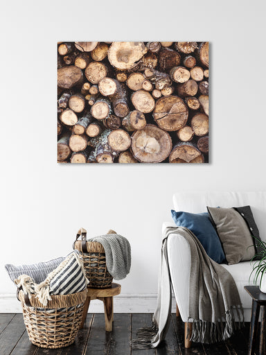 Wood Pile - Rustic Cabin Wall Art
