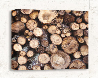 Wood Pile - Rustic Wall Art for your Modern Farmhouse Decor