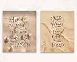 God's Word Print Set of Two - Scripture Wall Art