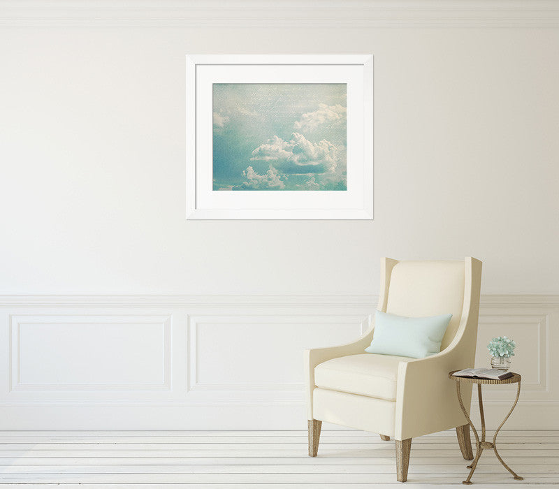 Written in the Clouds II - Shabby Chic Wall Art