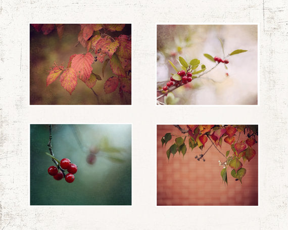 Fall Leaf Print Set of Four