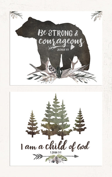 Woodland Boys Room Set of Two
