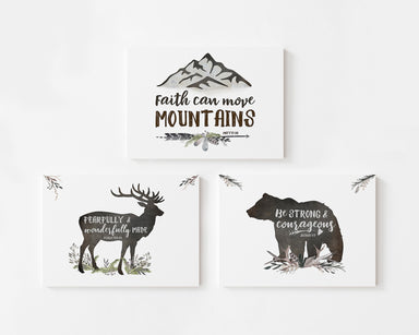 Woodland Set of Three - Canvas Wraps