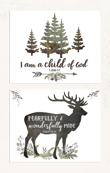 Woodland Forest Nursery Prints