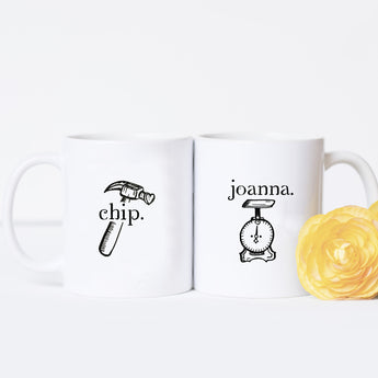Chip and Joanna - Couples Mug Set