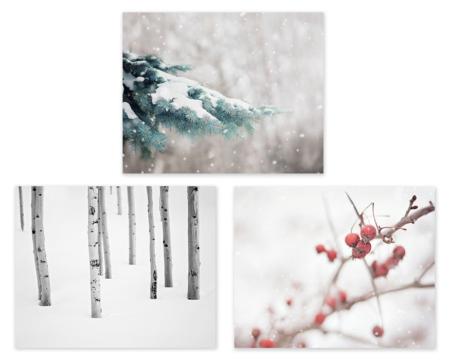 Christmas Wall Art Set of Three