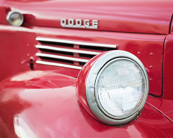 Red Dodge - Red Wall Art for your Retro Decor