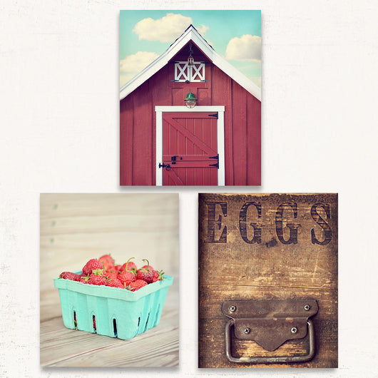 Rustic Kitchen Print Set of Three