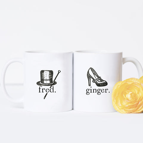Fred and Ginger - Couples Mug Set