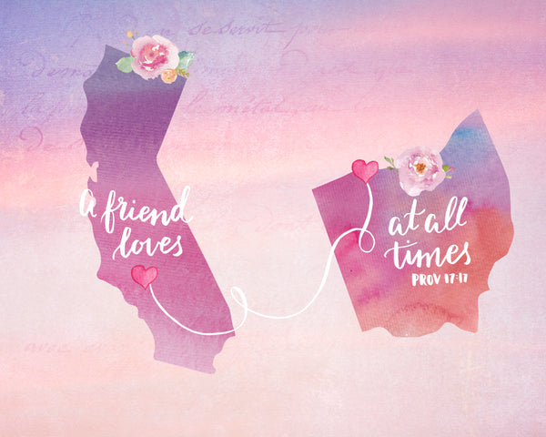 A Friend Loves at All Times - Lettered Print