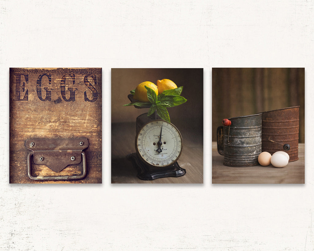 Kitchen Scale Print Set of Three