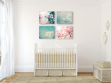 Blue and Pink Nursery Set of Four
