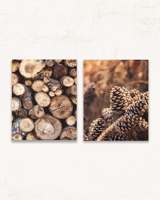 Rustic Cabin Print Set of Two