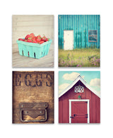 Country Kitchen Print Set of Four