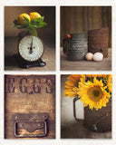Sunflower Wall Art Set of Four