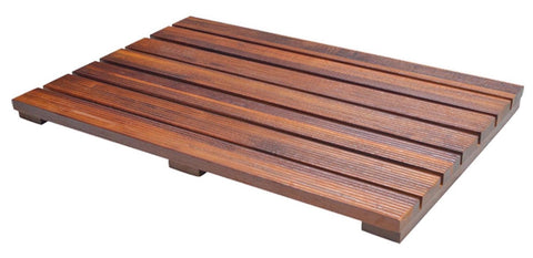 Handcrafted Teak Wood Bath Mat Non Slip Feet For In And Out The Shower