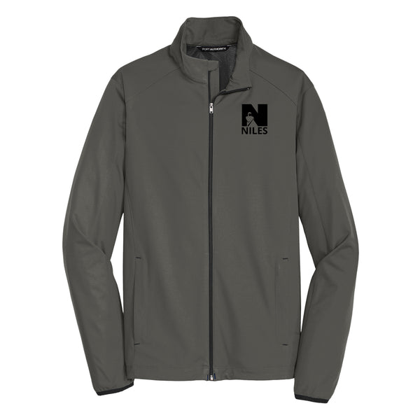 Soft Shell Zip-Up Jacket - Grey Steel