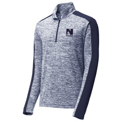 Sport-Tek PosiCharge Electric Heather Colorblock Quarter Zip Pullover