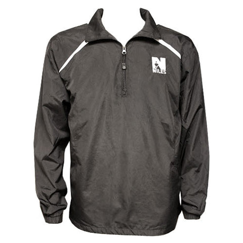 Sport Tek Wind Breaker 1/2 Zip-White logo - Black