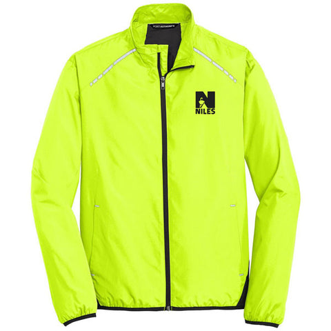 Men's Port Authority Zephyr Reflective Hit Full Zip Jacket - Safety Green