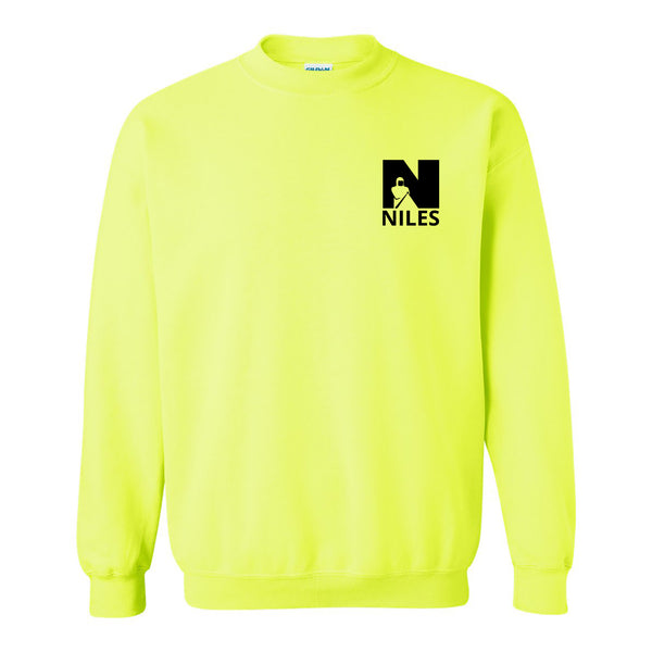 Gildan Lightweight Crew Neck Sweatshirt - Safety Green