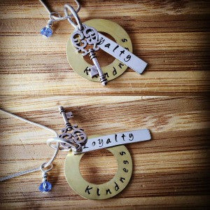 Kindness & Loyalty Key Necklace