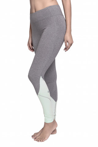 CITTA FULL LENGTH LEGGING HEATHER GREY/MINT