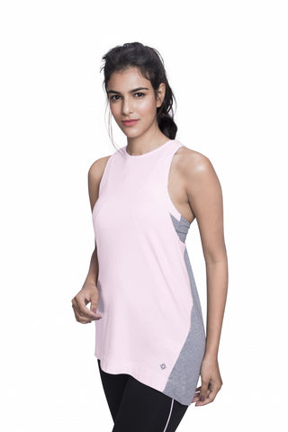 DISCOVERY TANK PINK/HEATHER GREY