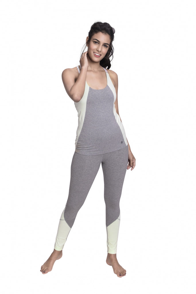 ARHAT FITTED CAMI HEATHER GREY