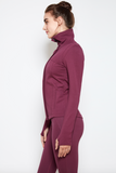 Aaliyah Jacket in Aubergine