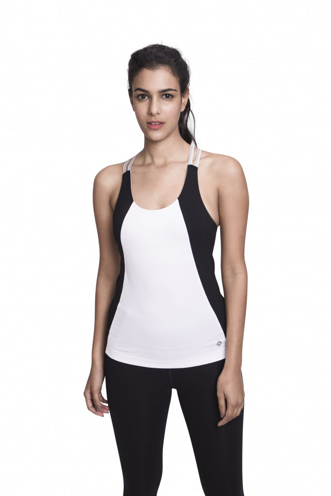 ARHAT FITTED CAMI WHITE