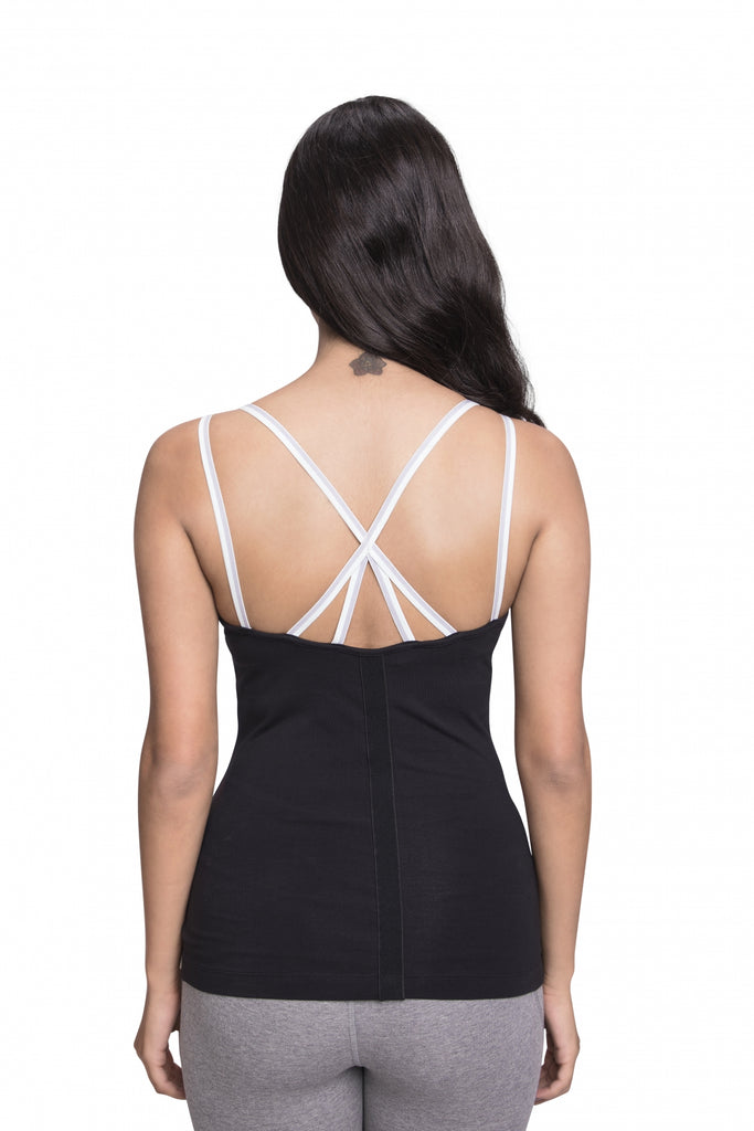 ARTHA FITTED CAMI BLACK