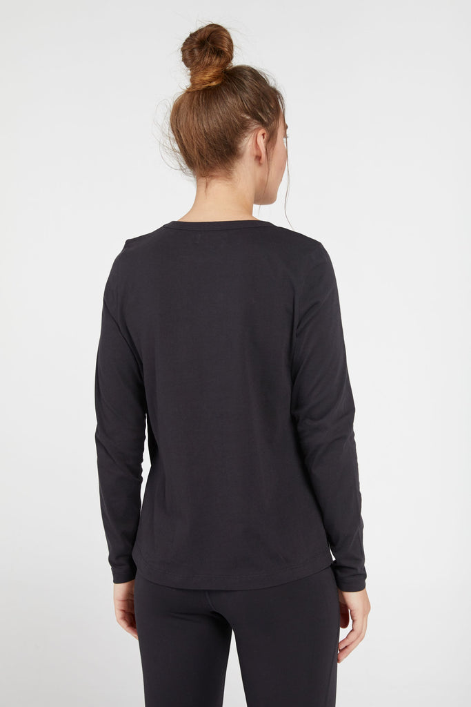 ASAV CREW NECK TEE IN BLACK