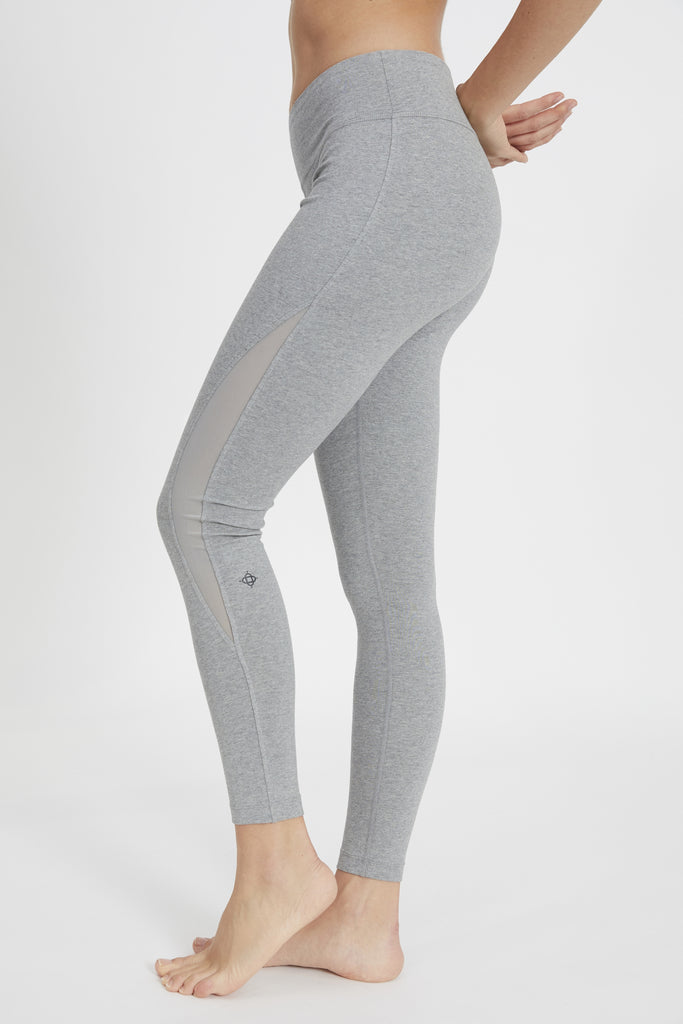 ATHENA MID-RISE LEGGING HEATHER GREY