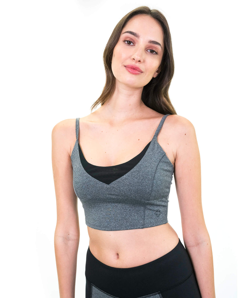 Ananda Bra in Dark Heather Grey