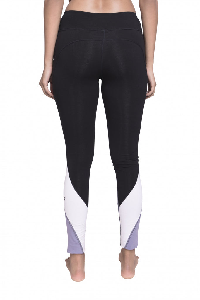 CITTA FULL LENGTH LEGGING BLACK/WHITE/PURPLE