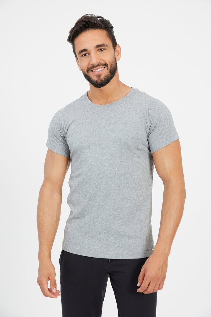 CRESCENT TEE HEATHER GREY