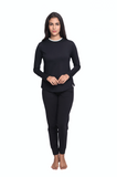 DANA LONG SLEEVE TOP BLACK