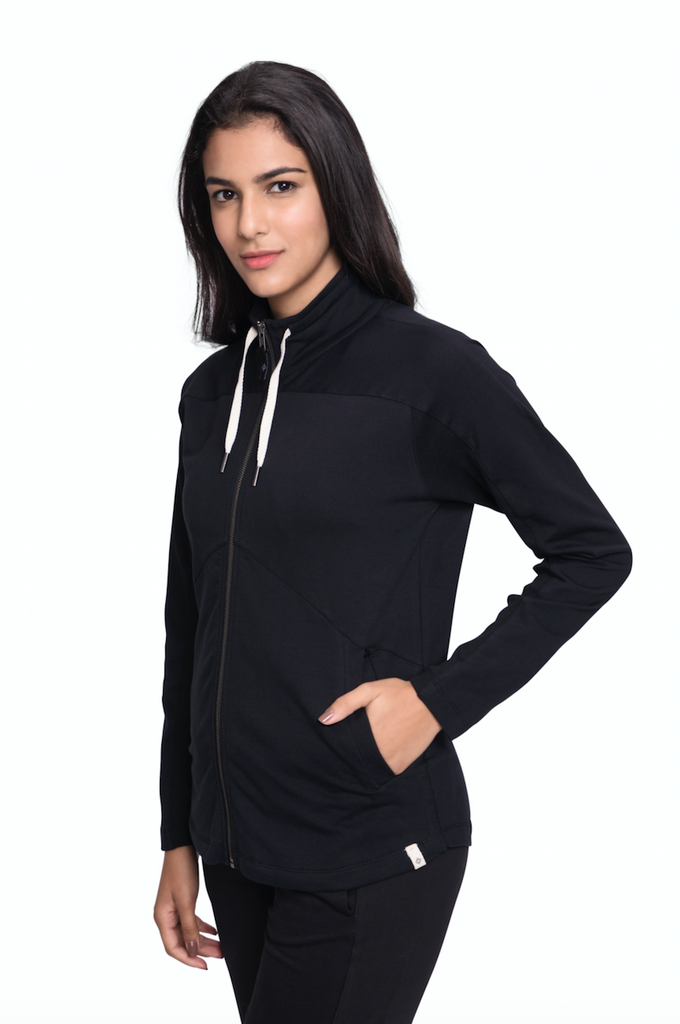 GIRI SEMI FITTED JACKET BLACK