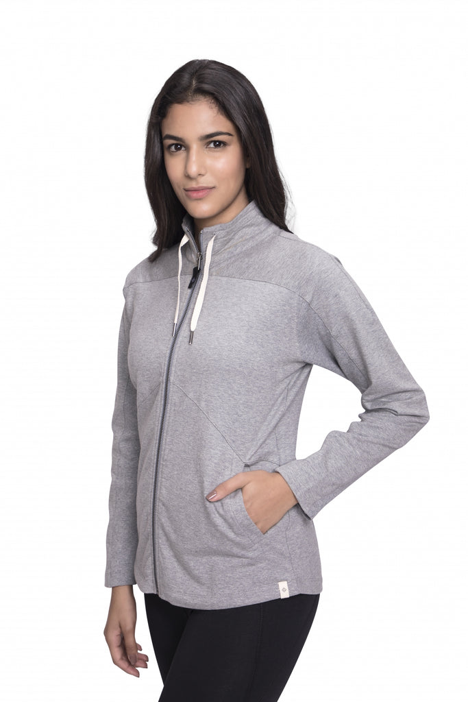 GIRI SEMI FITTED JACKET HEATHER GREY