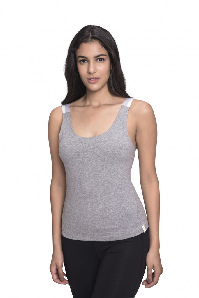 KARANA FITTED CAMI HEATHER GREY