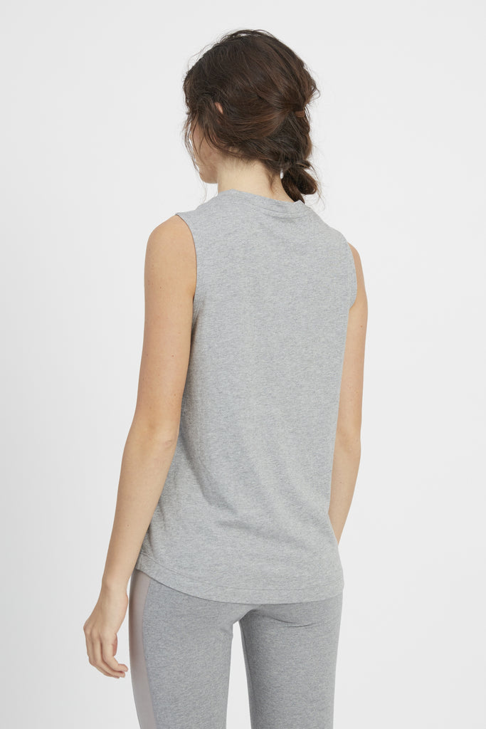 LILA TEE HEATHER GREY